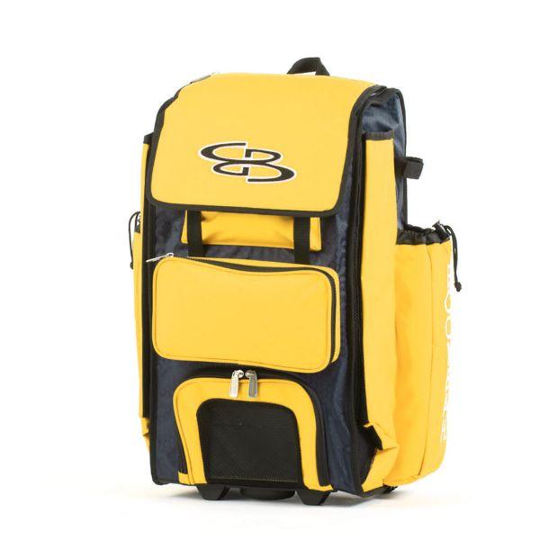 Rolling Catcher's Superpack Bat Bag Navy/Gold