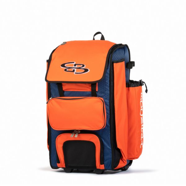 Rolling Catcher's Superpack Bat Bag Royal Blue/Orange