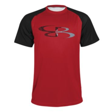 Men's B-Logo Split Short Sleeve Shirt