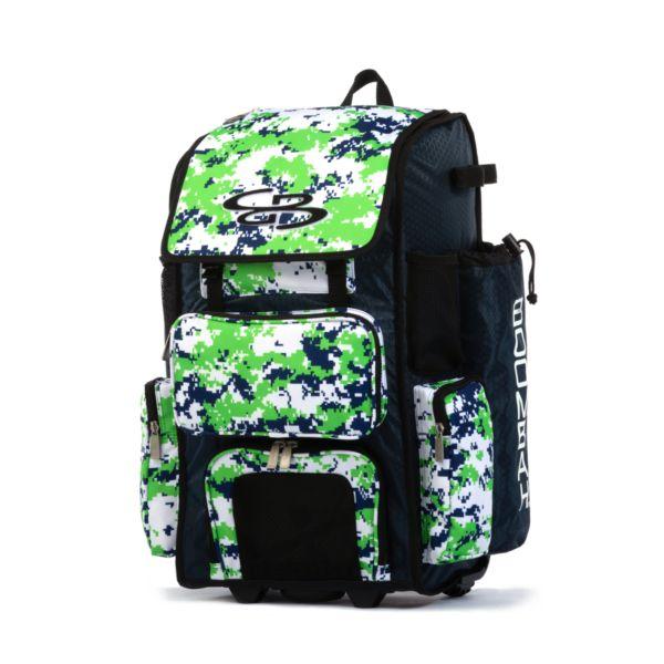 Superpack Camo Rolling Bat Bag 2.0
