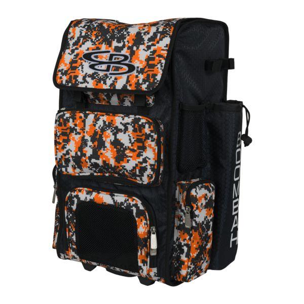 Superpack Camo Rolling Bat Bag