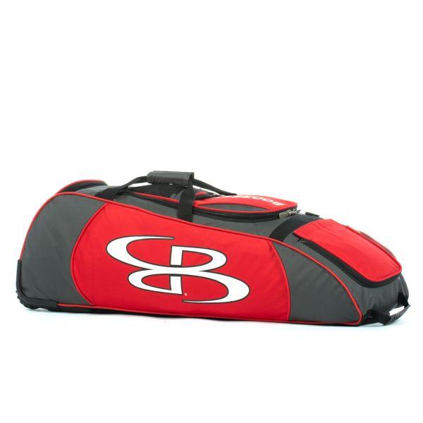 Spartan Rolling Bat Bag 2.0 Dark Charcoal/Red