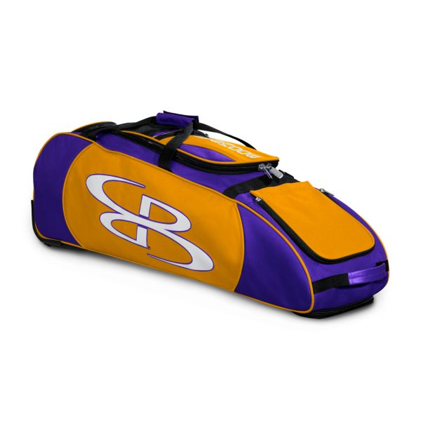 Spartan Rolling Bat Bag Purple/Gold