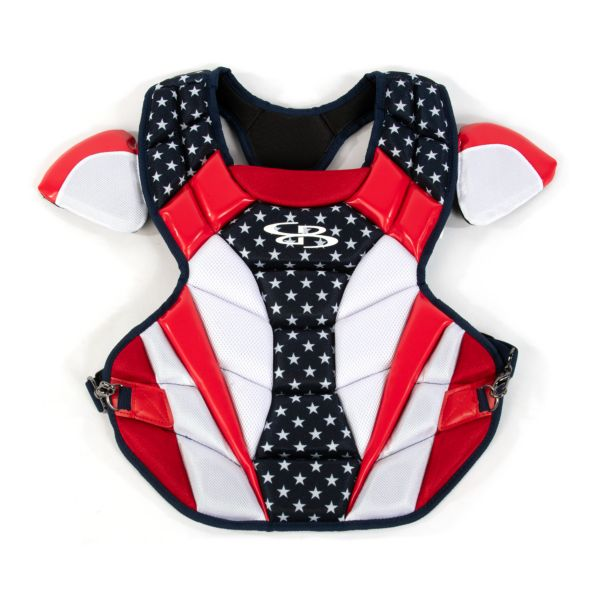 Boombah DEFCON Women's Chest Protector Flag Navy/Red/White
