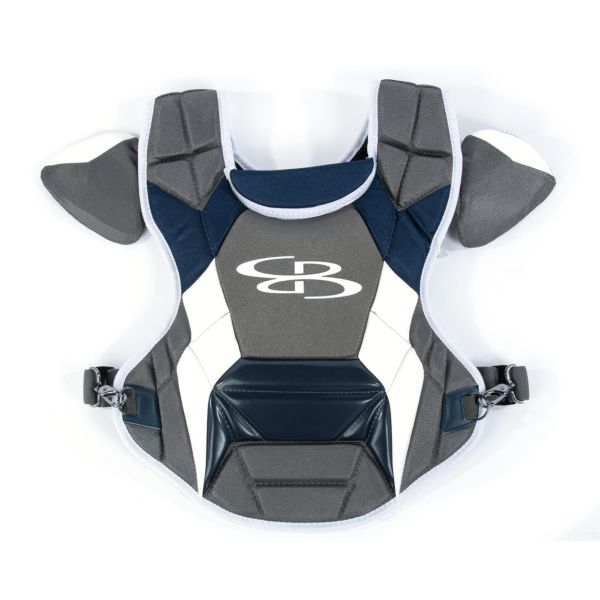 Boombah DEFCON Youth Chest Protector Commotio Cordis Dark Charcoal/Navy