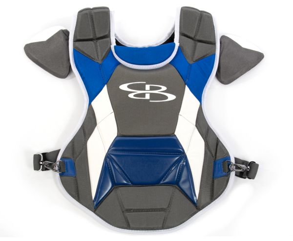 Boombah DEFCON Youth Chest Protector Commotio Cordis Dark Charcoal/Royal Blue