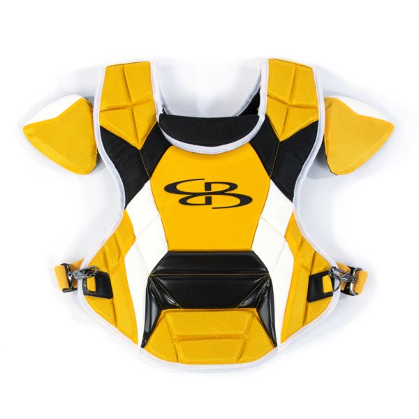 Boombah DEFCON Youth Chest Protector Commotio Cordis Gold/Black
