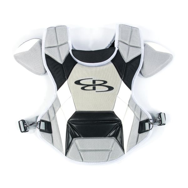 Boombah DEFCON Youth Chest Protector Commotio Cordis Gray/Black