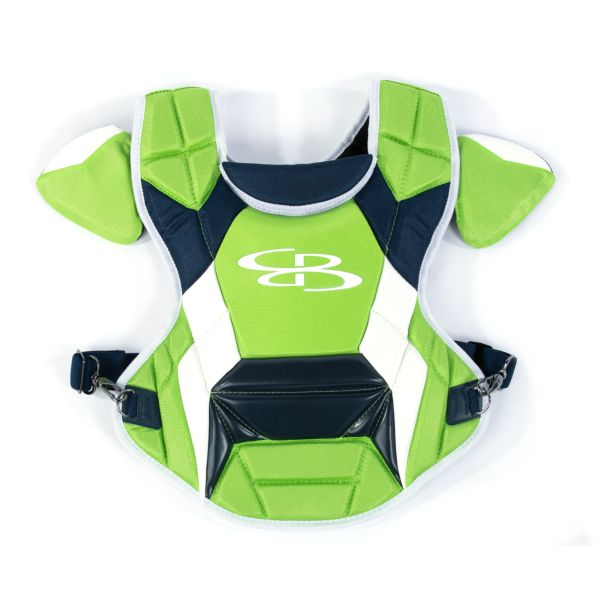 Boombah DEFCON Youth Chest Protector Commotio Cordis Lime Green/Navy