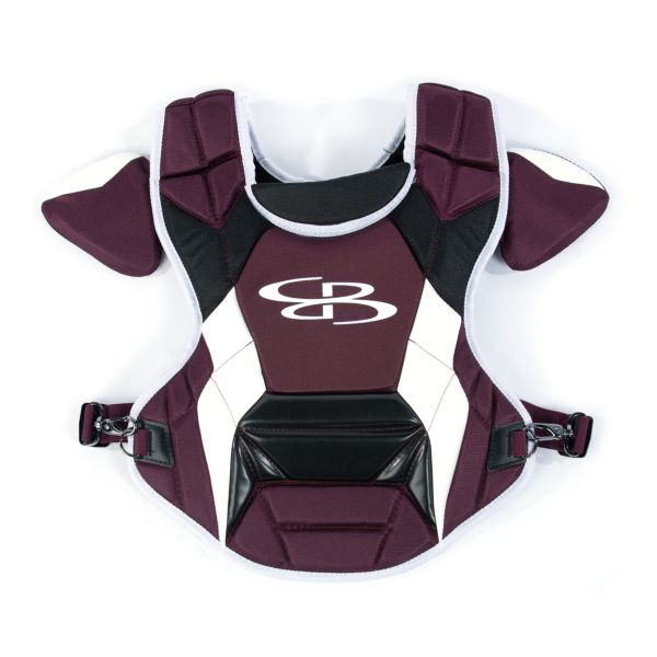 Boombah DEFCON Youth Chest Protector Commotio Cordis Maroon/Black