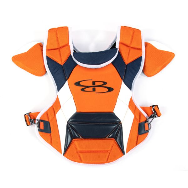 Boombah DEFCON Youth Chest Protector Commotio Cordis Orange/Navy