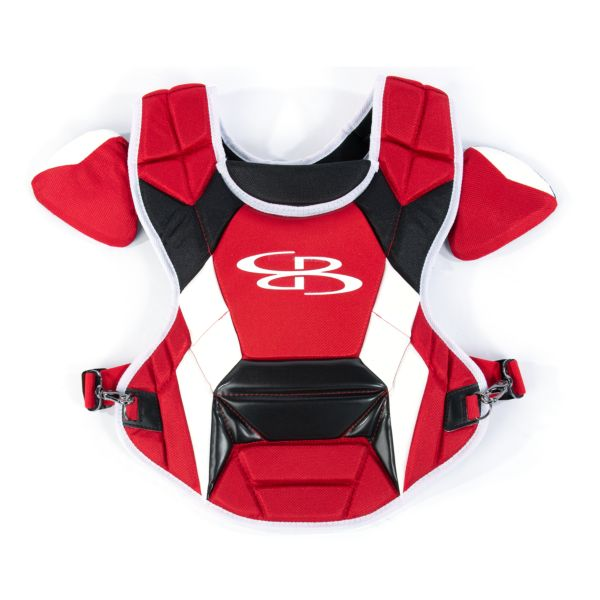 Boombah DEFCON Youth Chest Protector Commotio Cordis Red/Black