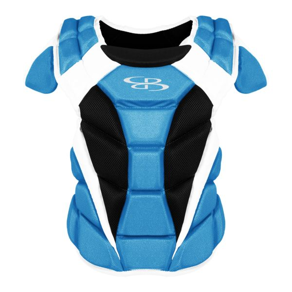 Boombah DEFCON Youth Chest Protector Columbia Blue/Black