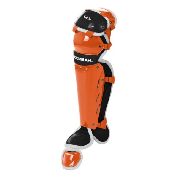 Boombah Youth DEFCON Shin Guards Orange/Black