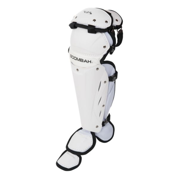 Boombah Youth DEFCON Shin Guards Matte Out White