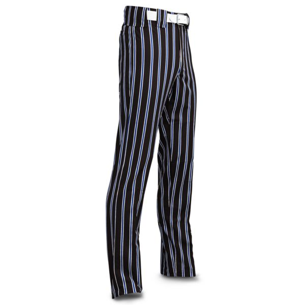 Men's Clearance Ultimate Thick Stripe Black Body w/ Royal Blue/White Stripes
