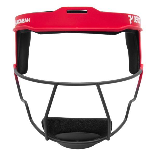 Boombah DEFCON Steel 2 Tone Fade Fielder's Mask Red/Black