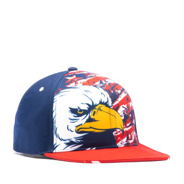 Men's Elite Series Solid Snapback USA Eagle Red/Navy/White