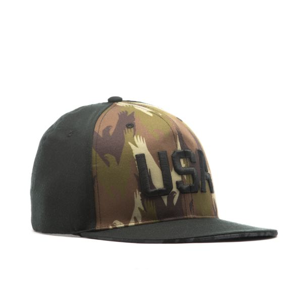 Men's Elite Series Solid Snapback USA Eagle Camo Black/Camo