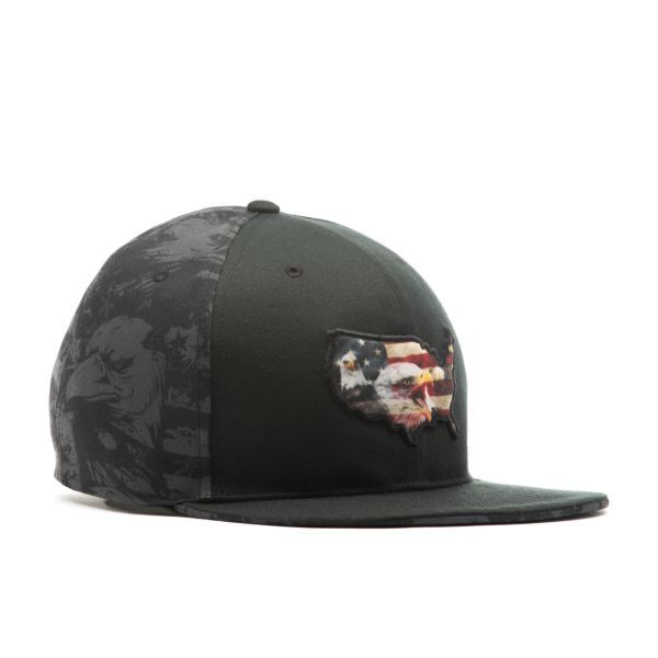 Men's Elite Series Solid Snapback USA One Nation Black