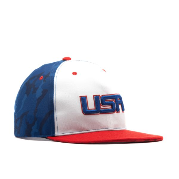 USA Traditional Solid Snapback Hat