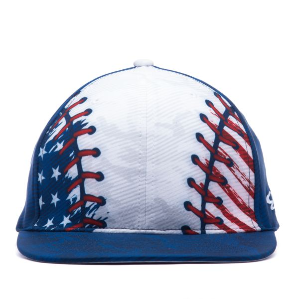 Men's Elite Series Inkflex USA Baseball White/Navy/Royal Blue