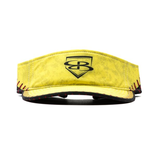 Softball Stitches Visor Optic Yellow/Black/Red