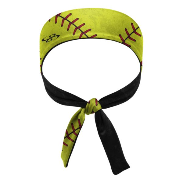 Women's Softball Stitches Tie Performance Headband