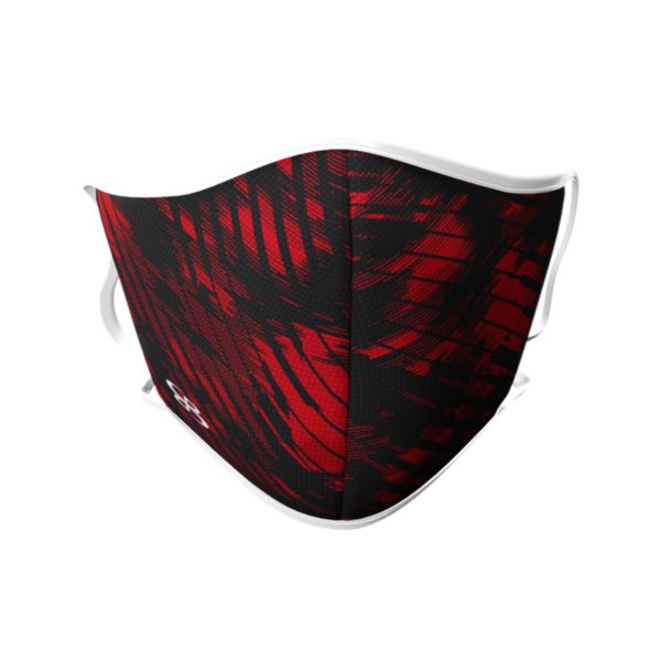 Full Dye Face Masks-3 pack-Unisex -Fury B/RD Black/Red