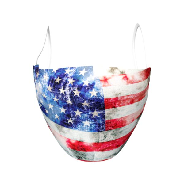 Full Dye Elastic Face Mask-Unisex OSFM-USA Old Glory N/RD/W Navy/Red/White