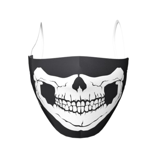 Skull Elastic Over Ear Face Mask