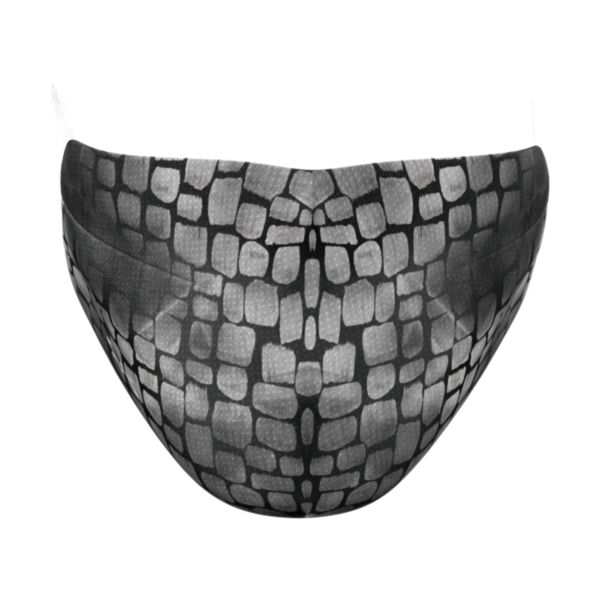 Full Dye Elastic Face Mask-Unisex OSFM-Avail B/GY Black/Gray