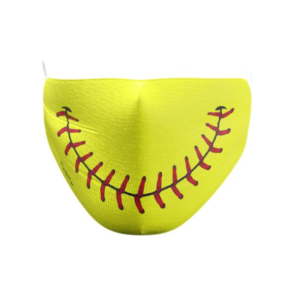 Softball Smile Elastic Over Ear Face Mask
