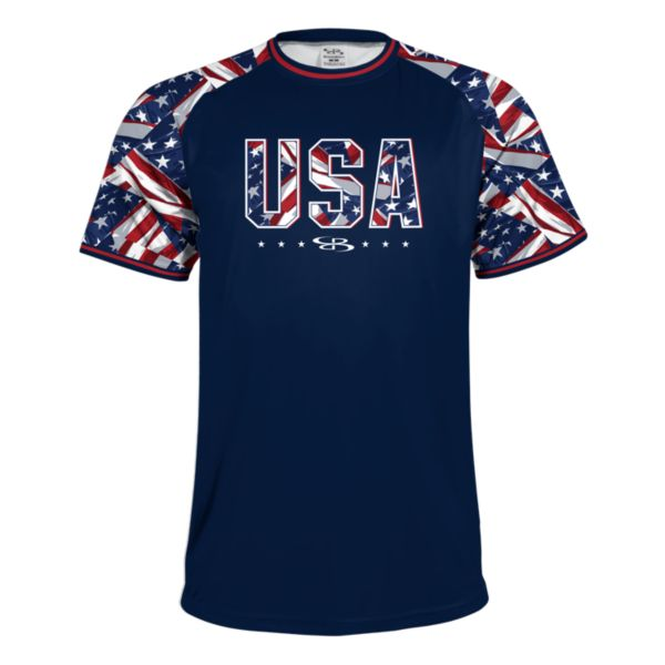 Men's USA Performance Tee Navy/White/Red
