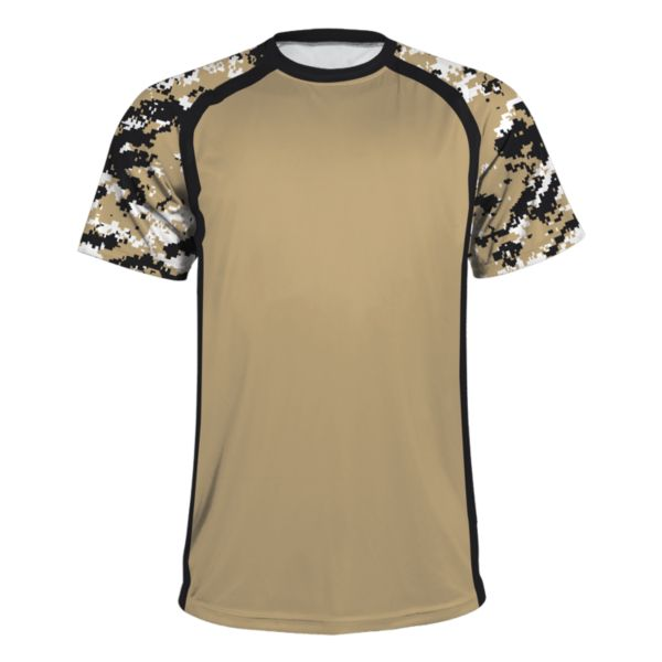 Men's Atomic Performance Tee Black/Vegas Gold