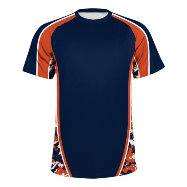 Men's Speed Camo Density Performance Shirt Navy/Orange/White