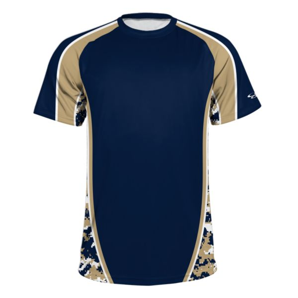 Men's Speed Camo Density Performance Shirt Navy/Vegas Gold/White