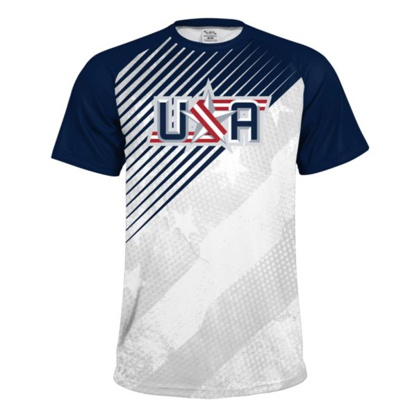 Men's USA Performance Shirt White/Navy