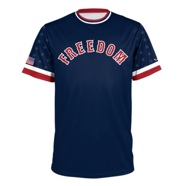 Men's USA Performance Tee Navy/Red/White