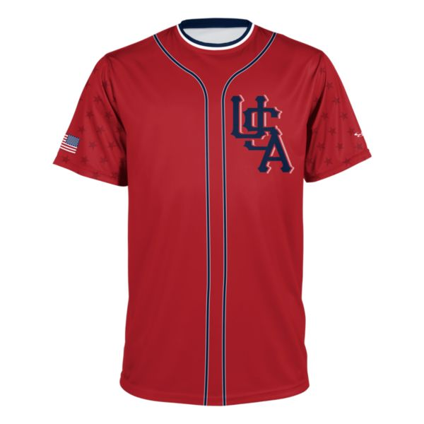 Men's USA Performance Tee Red/Navy/White
