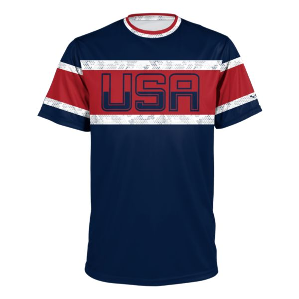 Men's USA BB Tradition Tee Navy/Red/White