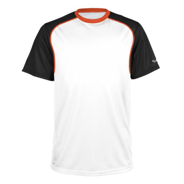Men's Brawler Performance Tee White/Black/Orange