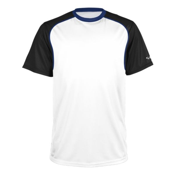 Men's Brawler Performance Tee White/Black/Royal