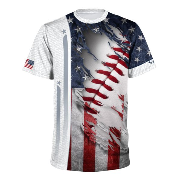 Men's USA Performance Shirt Navy/Red/White
