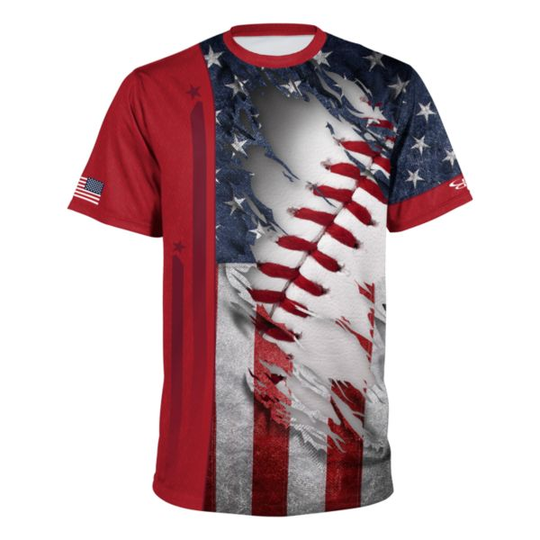 Men's USA Performance Shirt Navy/White/Red