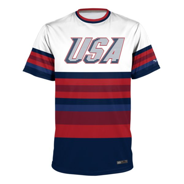 Men's USA Performance Shirt White/Navy/Red