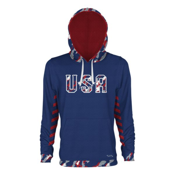 Men's USA Blade Verge Hoodie Royal/Red/Gray