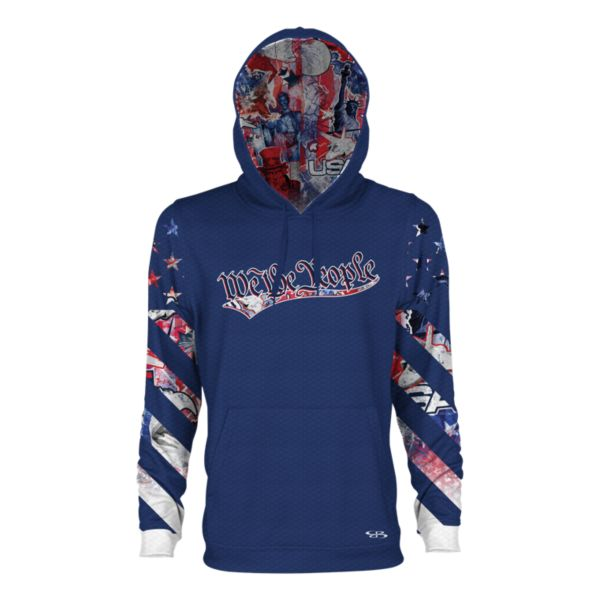 Men's USA Declaration Verge Hoodie Royal/Red/White