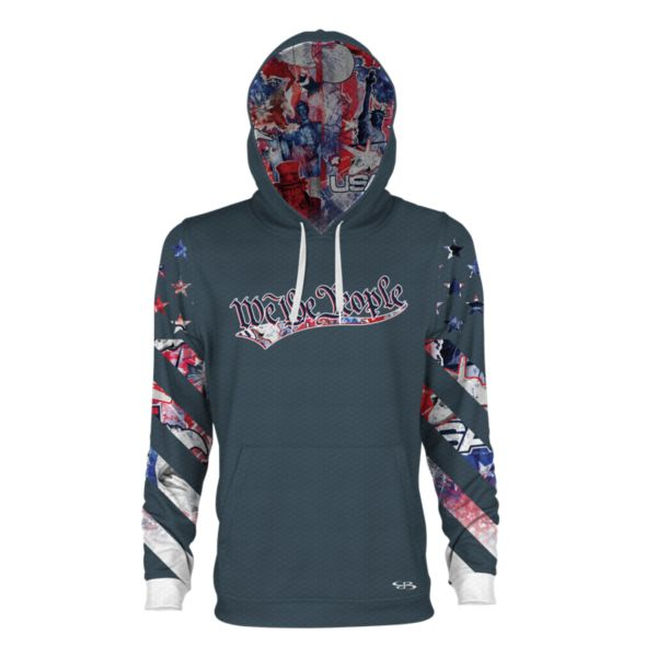 Men's USA Declaration Verge Hoodie Storm/Red/White