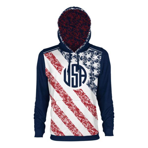 Men's USA Alpha Verge Hoodie Navy/Red/White